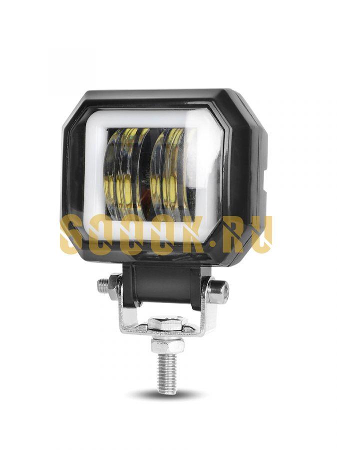 LED фара квадратная 20 ватт 6K-20KV-80V 12 вольт, 24 вольт, 48 вольт, 60 вольт, 80 вольт