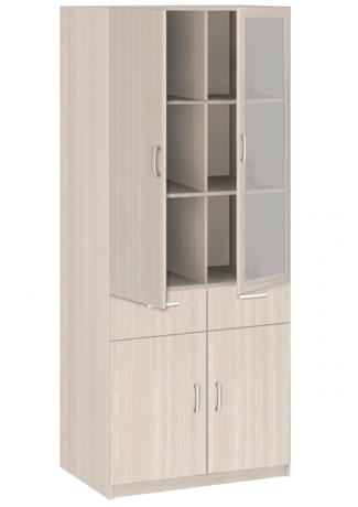 20.24 Шкаф 2-х дверный со стеклом с ящиками Соло