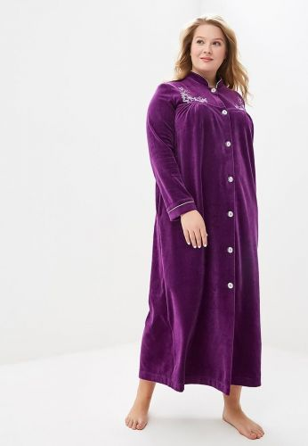 Женский велюровый халат Aurore фиолетовый