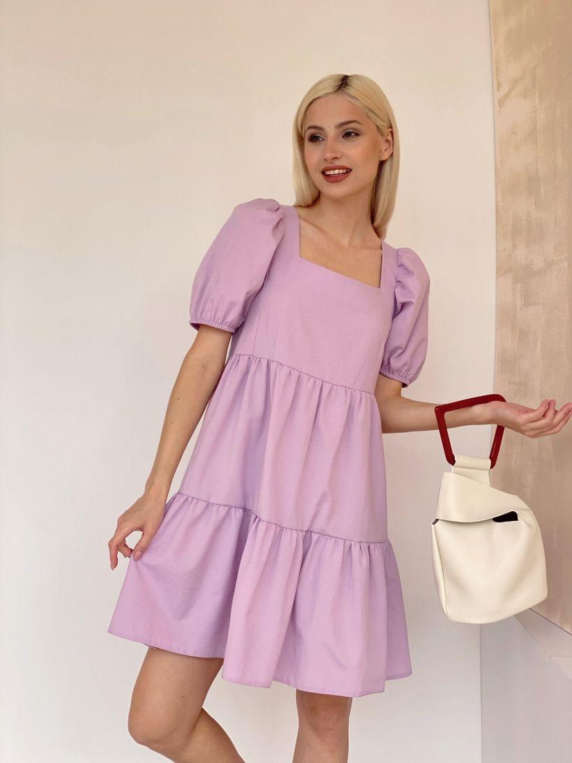 4615 Платье-парашют лавандовое