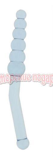 Голубая анальная ёлочка с ручкой Anal Angler - 23 см.