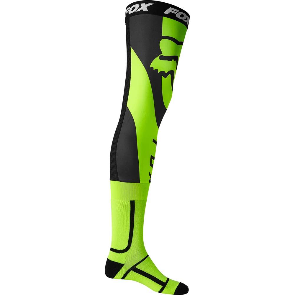 Fox Mirer Knee Brace Sock Flo Yellow (2022) чулки под наколенники