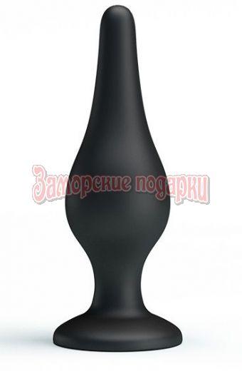 Анальная пробка на присоске среднего размера Sensitive Prostate Plug - 14 см.