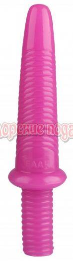 Розовый анальный реалистичный стимулятор - 31 см.
