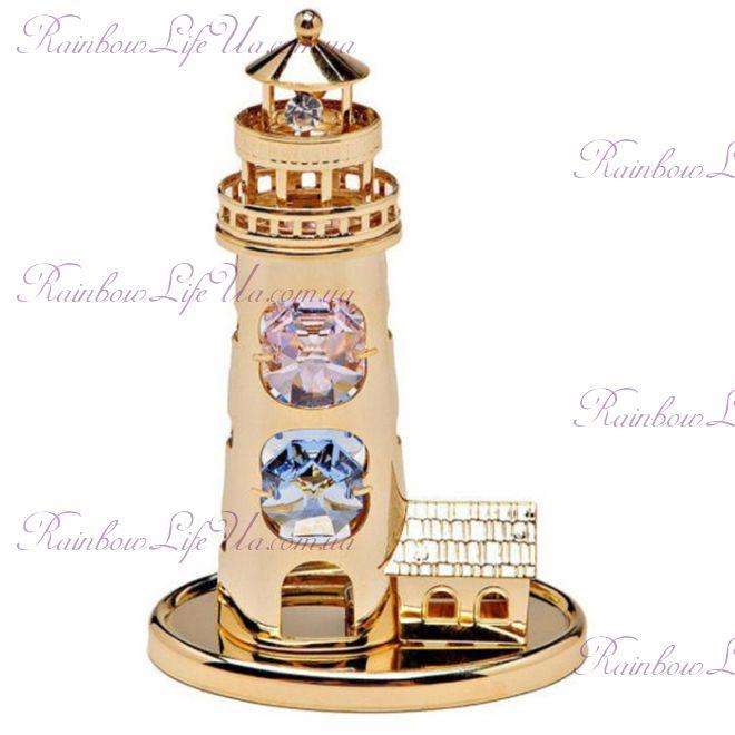 """Фигурка маяк с камнями """"Swarovski"""""""