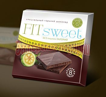 Горький шоколад Fit sweet - 40 гр.