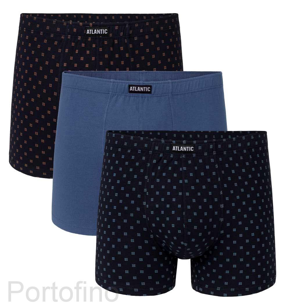 3MH-030 Трусы шорты Button Атлантик- набор 3 штуки