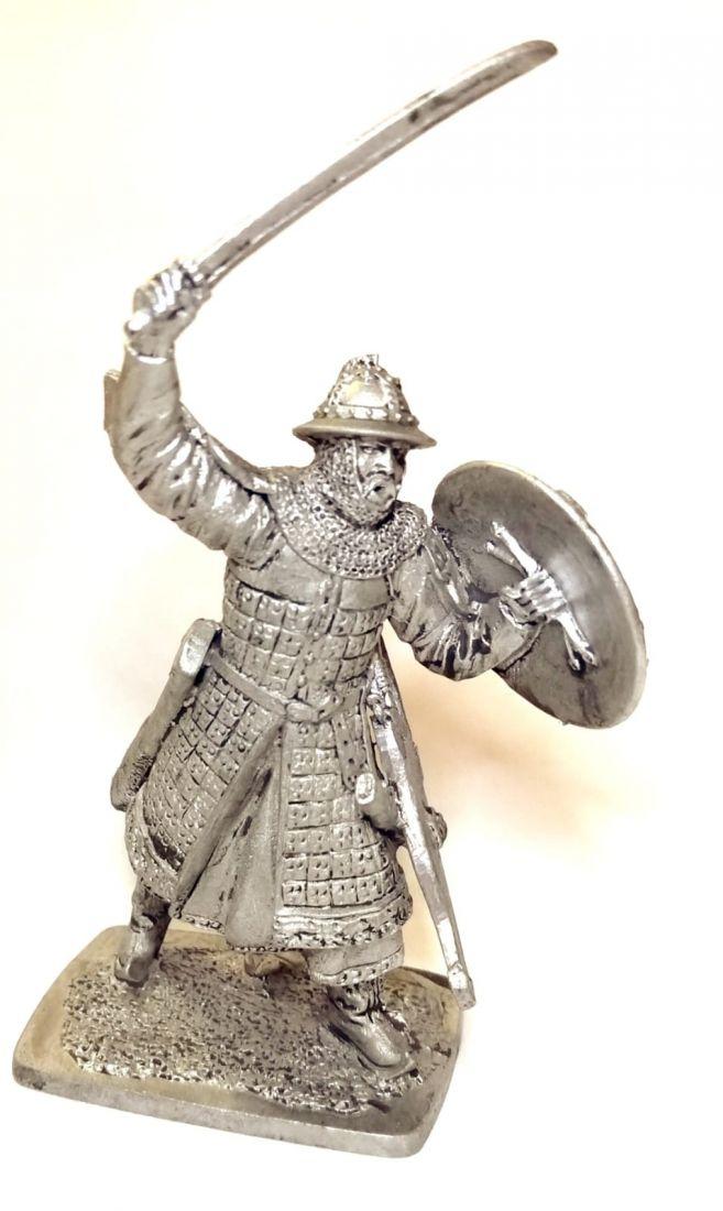 Фигурка Тяжеловооруженный Монгольский воин, 13 век олово