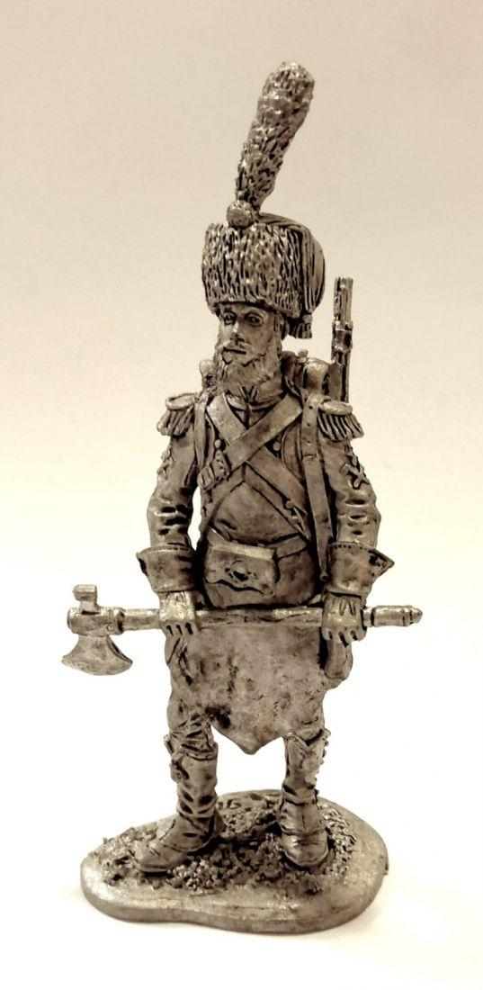Фигурка Сапер легкой пехоты Франция 1806 г. олово
