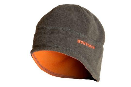 Шапка двухсторонняя Хаки/Оранжевый Флис Huntsman
