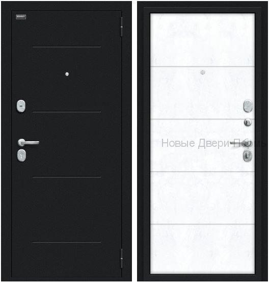 """""""Граффити-1"""" Букле черное/Snow Art Дверь входная"""