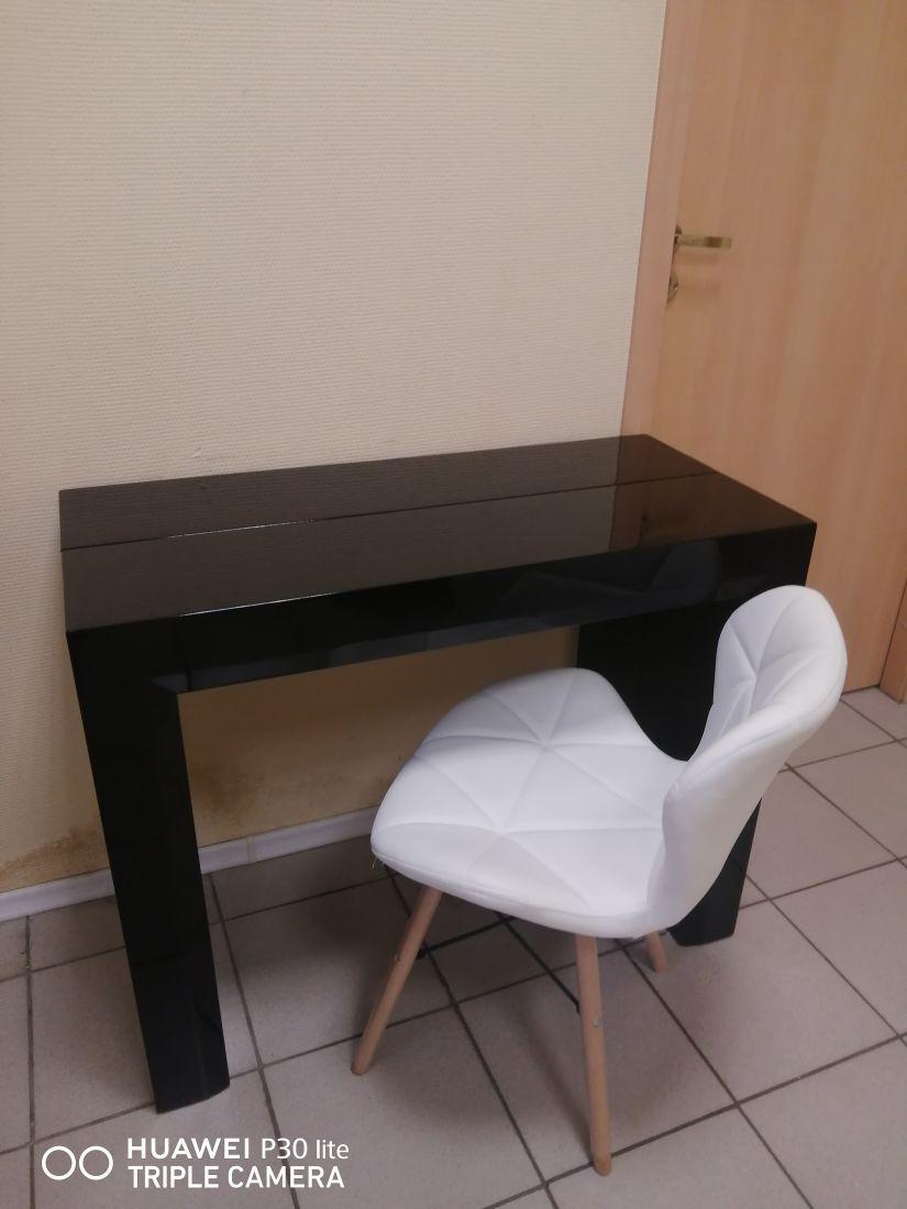 Стол консоль-трансформер  B 2307 черный лак(уценка)
