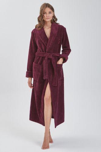Женский махровый халат Serenity винный