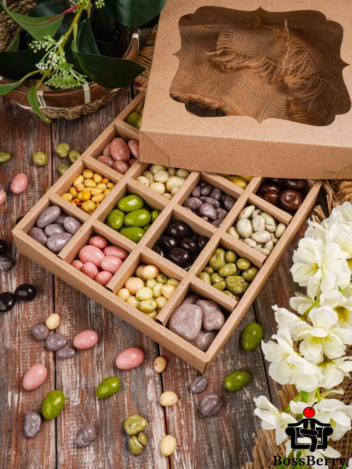 Большой подарочный набор орехов и ягод в йогуртовой и шоколадной глазури
