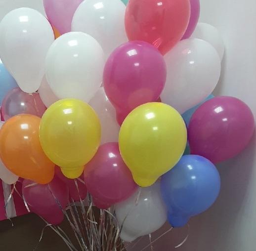 """шарики 5"""" с гелием 30 шт"""