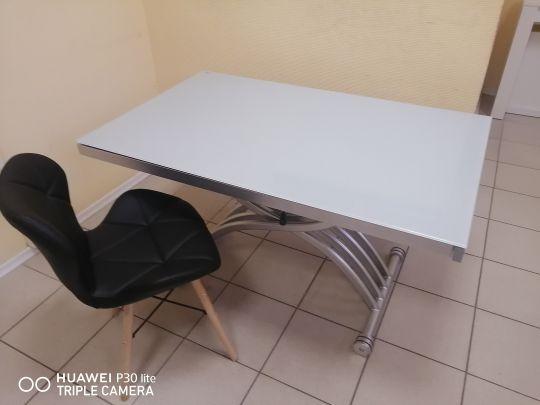 Стол-трансформер B 2109-3 белое стекло