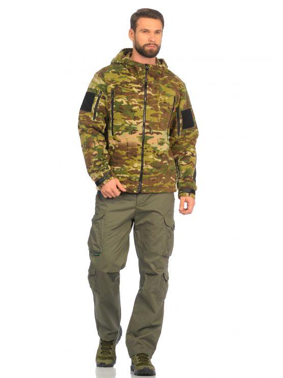 Куртка флисовая Huntsman демисезонная Камелот Мультикам Polarfleece