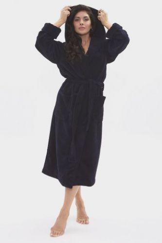 Женский махровый халат с капюшоном Formula Sport