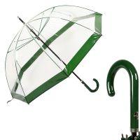 Зонт-трость M&P C4700-LM Transparent Green