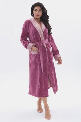 Женский махровый халат Soft Touch сухая роза