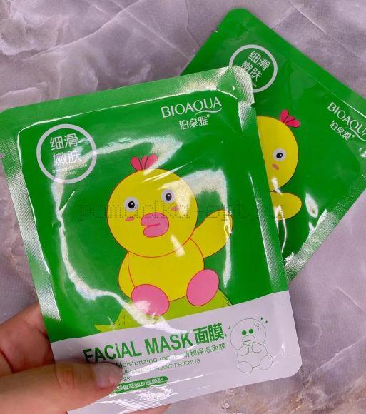 Оригинал Тканевая маска для лица Bioaqua Animal Face Mask Duck 30 г.