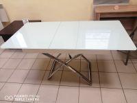 Стол трансформер B 2275 New белое стекло