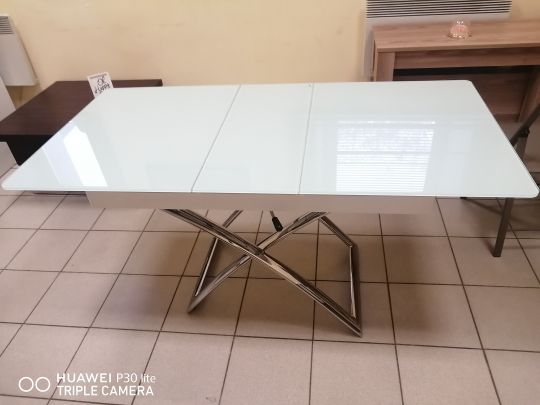 Стол трансформер B 2275-1 New белое стекло