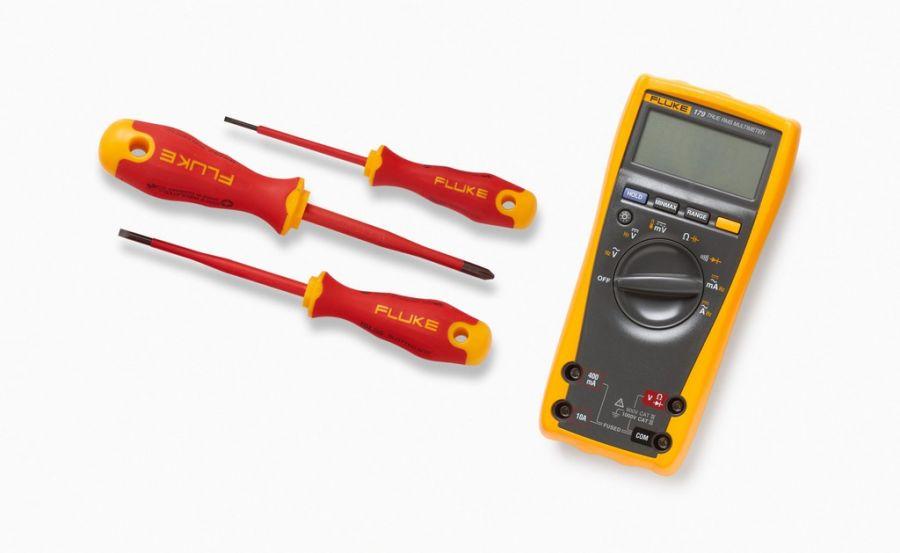 Комплект Fluke IB179M-EGFID - мультиметр Fluke 179 с набором отвёрток