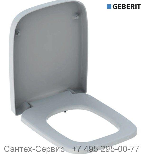 572110000 Сиденье для унитаза Geberit Renova Plan прямоугольное исполнение, крепление СНИЗУ