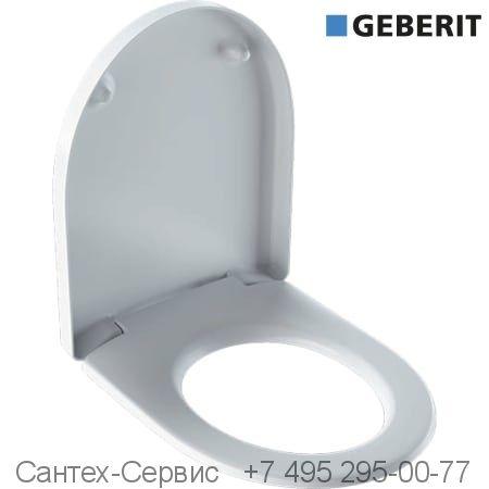 500.838.01.1 Сиденье для унитаза Geberit Renova Plan овальной формы с креплением СВЕРХУ