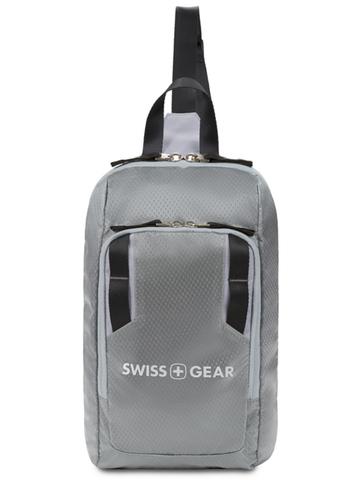 Рюкзак Swissgear с одним плечевым ремнем, серый, 18x5x33 см, 4 л, (3992424550)