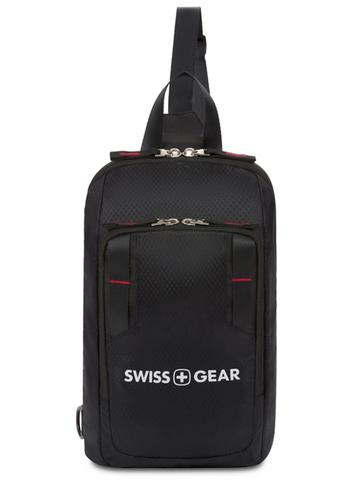Рюкзак Swissgear с одним плечевым ремнем, черный, 18x5x33 см, 4 л, (3992202550)