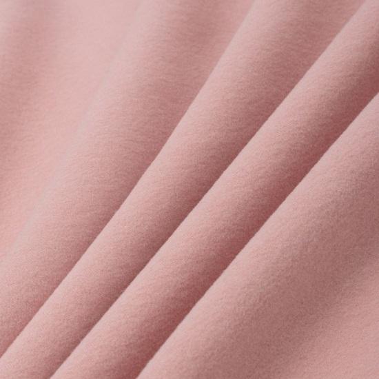 Лоскут трикотажной ткани - Фланель пудрово-розовая 50х37