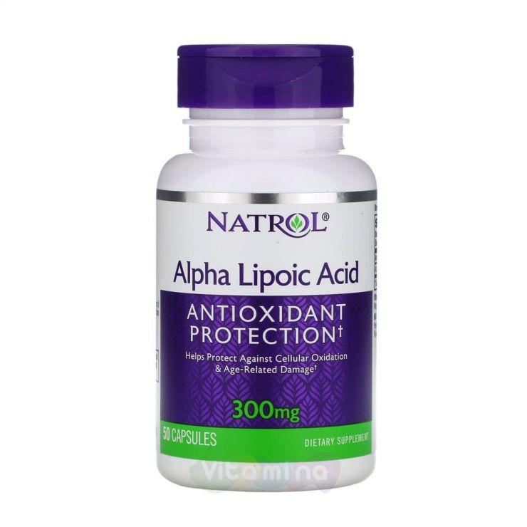 Natrol Альфа-липоевая кислота 300 мг Alpha Lipoic acid, 50 капс.