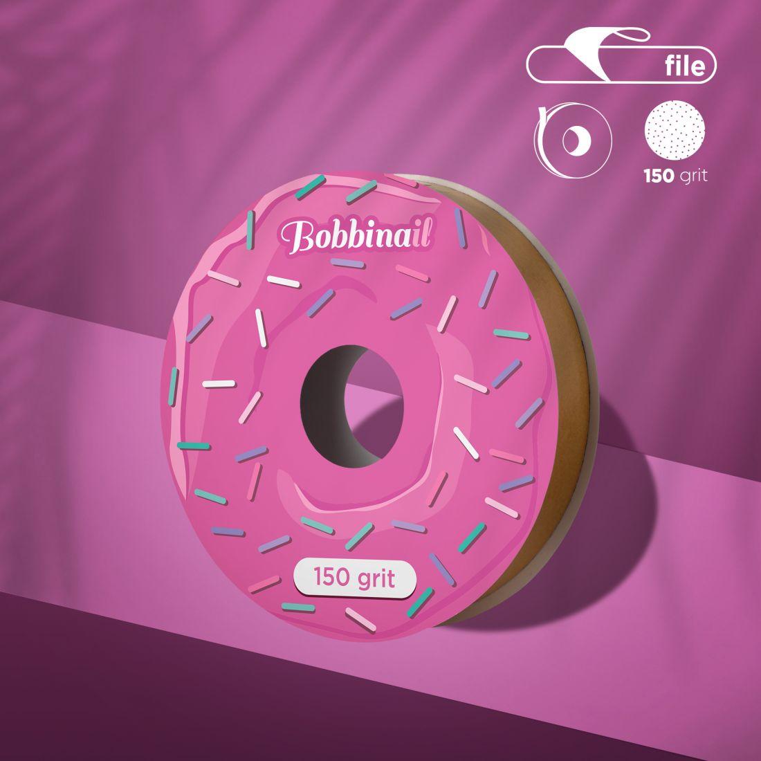 Запасной блок файл-ленты для пластиковой катушки Bobbinail STALEKS PRO 150 грит (8м)