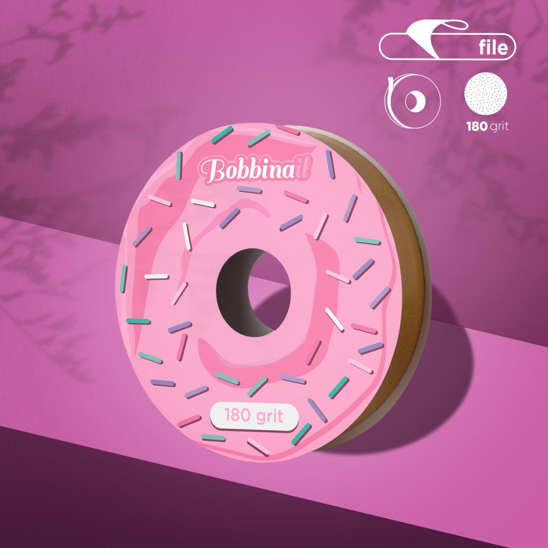 Запасной блок файл-ленты для пластиковой катушки Bobbinail STALEKS PRO 180 грит (8м)