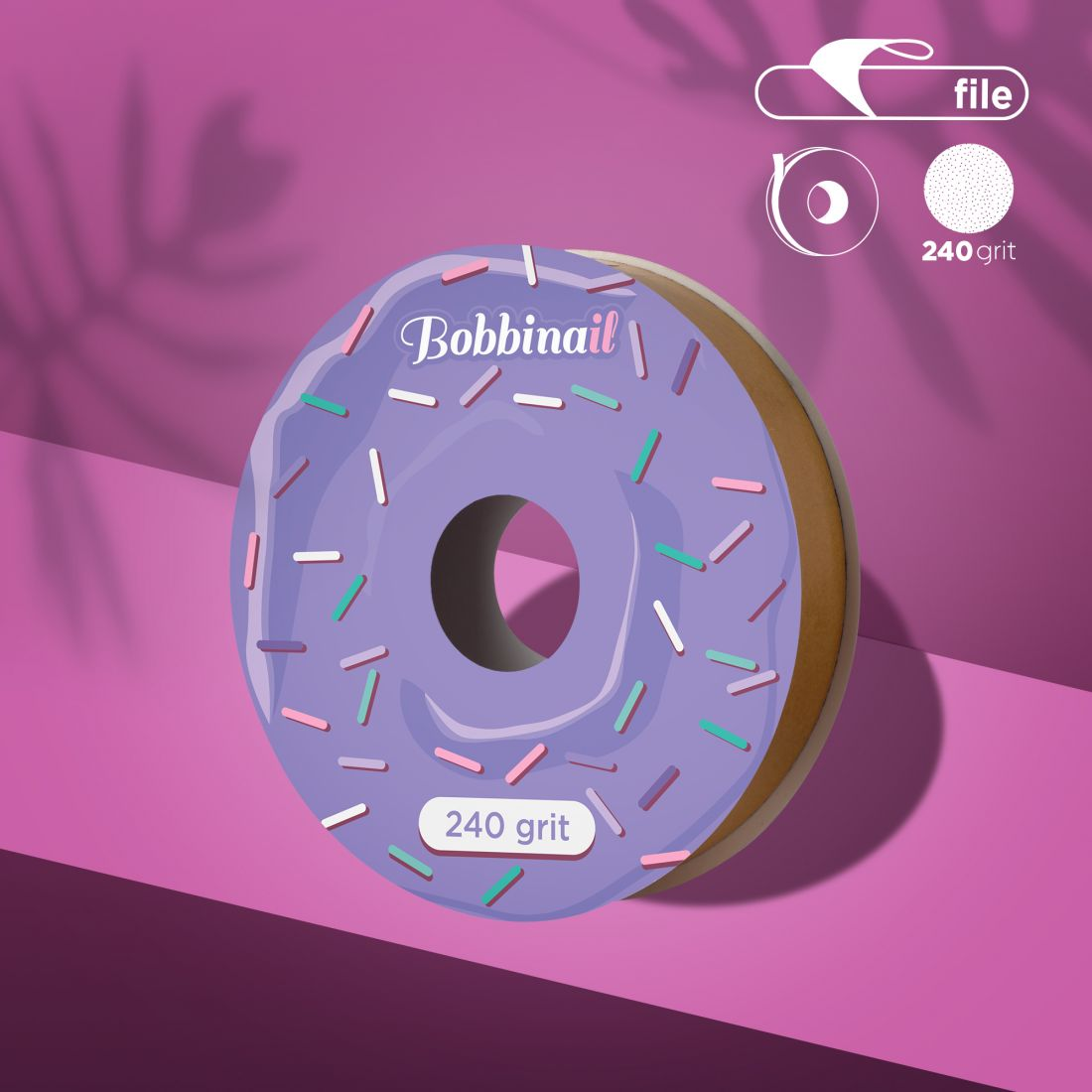 Запасной блок файл-ленты для пластиковой катушки Bobbinail STALEKS PRO 240 грит (8м)