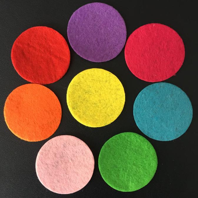 Кружки из фетра заготовки для декора 20-25-30 мм, набор 60 штук в упаковке DK.60 микс