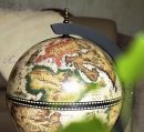 """Глобус бар настольный 33002W-B """"Карта мира"""" бело - черный сфера 33 см"""