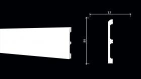 Плинтус Dekor-Dizayn DD706 Белая Лепнина Д2000хВ80хТ13 мм / Декор Дизайн