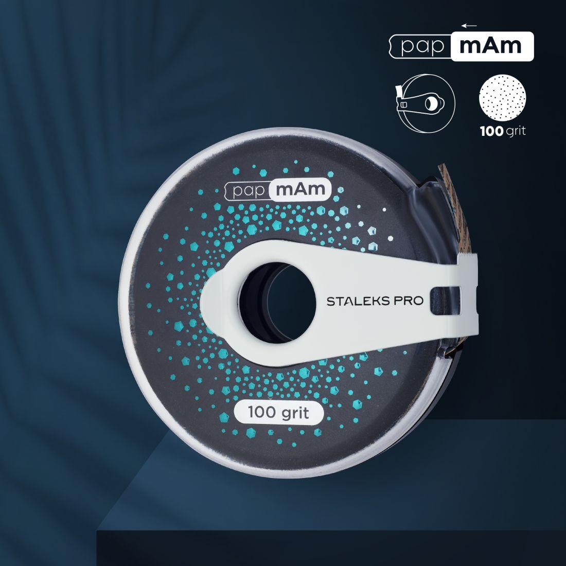 Сменный файл-лента papmAm EXCLUSIVE в пластиковой катушке STALEKS PRO 100 грит (6м)