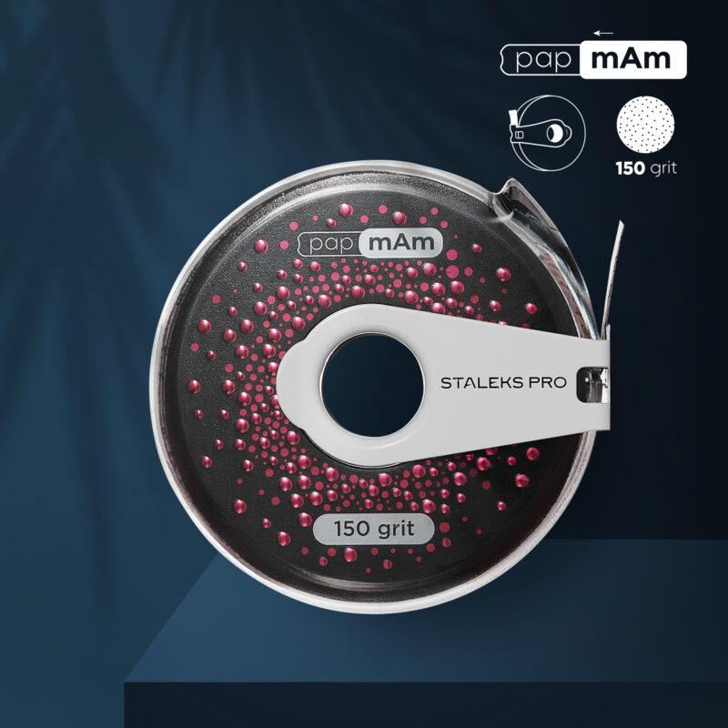 Сменный файл-лента papmAm EXCLUSIVE в пластиковой катушке STALEKS PRO 150 грит (6м)