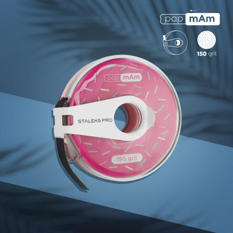 Сменный файл-лента papmAm в пластиковой катушке Bobbinail STALEKS PRO 150 грит (6м)