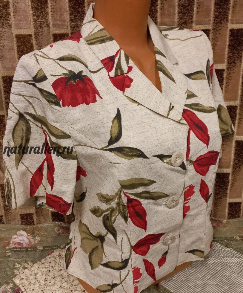 Пиджак укороченный лен/вискоза