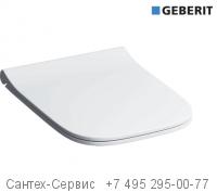 500.688.01.1 Сиденье для унитаза Geberit Smyle Square тонкое исполнение, тип Sandwich