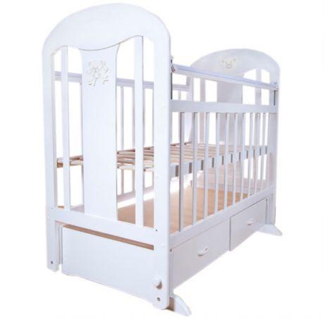 Кровать детская «Ивашка-2» (маятник поперечного качания, 2 ящика)