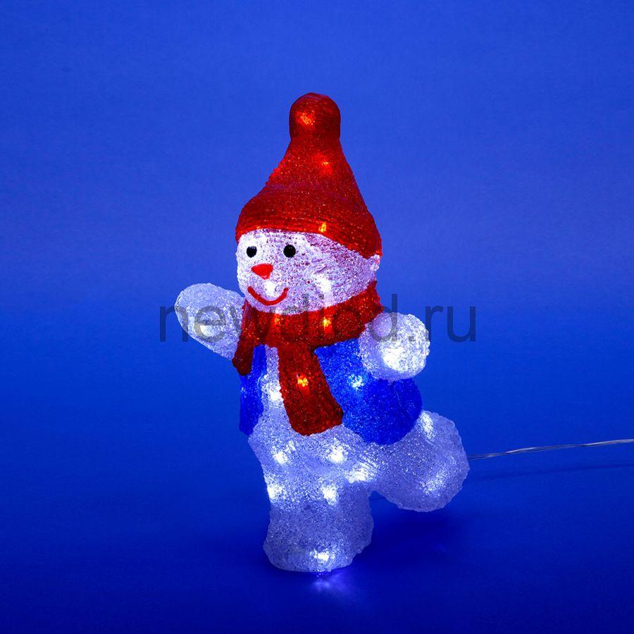 Фигура светодиодная снеговик-2 ULD-M2234-040-STA WHITE IP20 SNOWMAN-2 40д 22x17x34см свечение белое