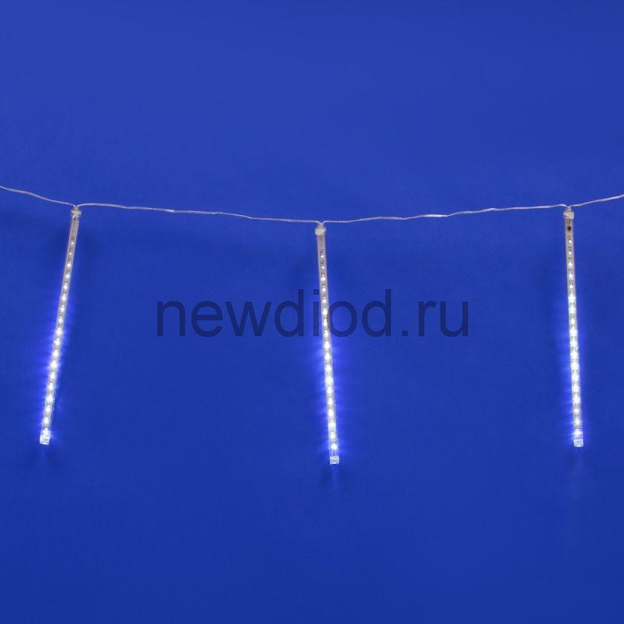 Занавес метеорит ULD-E2403-144/DTK WHITE IP44 METEOR 6Вт 2м 192д белый провод прозрачный