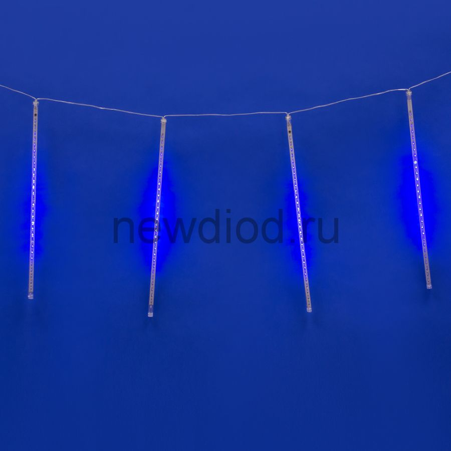 Занавес метеорит ULD-E2405-240/DTK BLUE IP44 METEOR 6Вт 2м 288д синий провод прозрачный