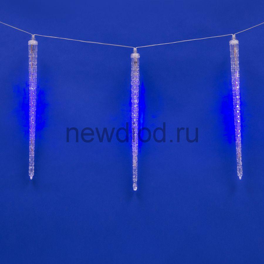 Занавес сд сосульки ULD-E3005-300-DTK BLUE IP44 ICICLE соед 2.7х0.42м 10подв синий провод прозрачный